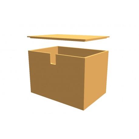 Kiste nach Maß mit Deckel, Buche-Sperrholz endbehandelt