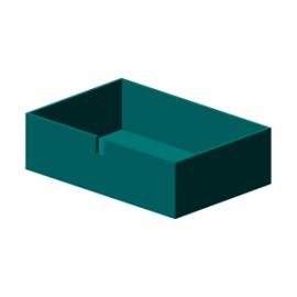 Kiste passt z.B. auch in ein 40er Billy Regal - 10,80cm hoch
